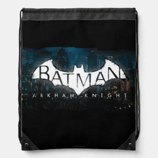 Batman Arkham Knight Gotham Logo Drawstring Backpack