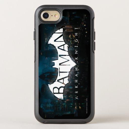 Batman Arkham Knight Gotham Logo OtterBox Symmetry iPhone SE/8/7 Case