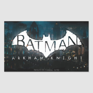 Batman Arkham Knight Gotham Logo Rectangular Sticker