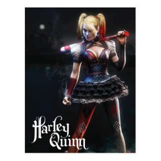 Batman Arkham Knight | Harley Quinn with Bat Postcard