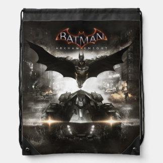 Batman Arkham Knight Key Art Drawstring Backpack