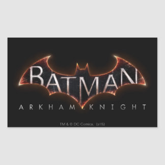 Batman Arkham Knight Logo Rectangular Sticker