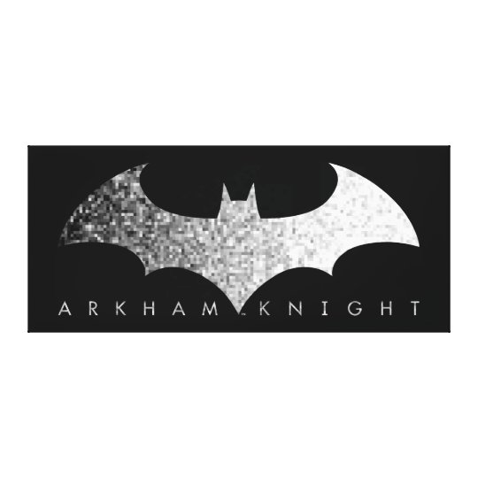Batman Arkham Knight Pixel Logo Canvas Print
