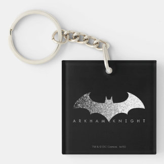 Batman Arkham Knight Pixel Logo Keychain