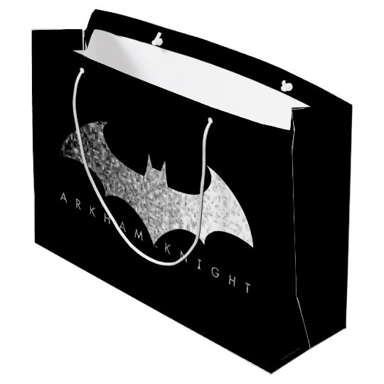Batman Arkham Knight Pixel Logo Large Gift Bag