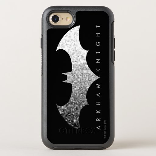 Batman Arkham Knight Pixel Logo OtterBox Symmetry iPhone SE/8/7 Case