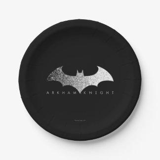 Batman Arkham Knight Pixel Logo Paper Plate