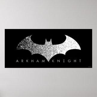 Batman Arkham Knight Pixel Logo Poster