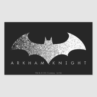 Batman Arkham Knight Pixel Logo Rectangular Sticker