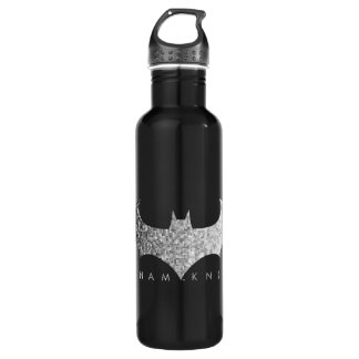 Batman Arkham Knight Pixel Logo Stainless Steel Water Bottle