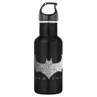 Batman Arkham Knight Pixel Logo Water Bottle