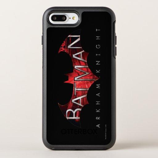 Batman Arkham Knight Red Logo OtterBox Symmetry iPhone 8 Plus/7 Plus Case