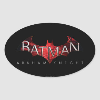 Batman Arkham Knight Red Logo Oval Sticker