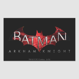 Batman Arkham Knight Red Logo Rectangular Sticker