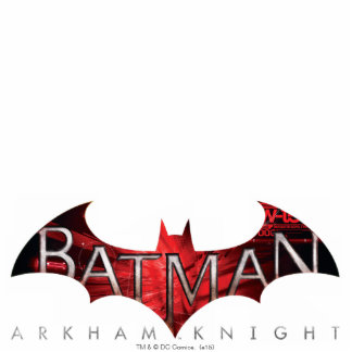 Batman Arkham Knight Red Logo Statuette