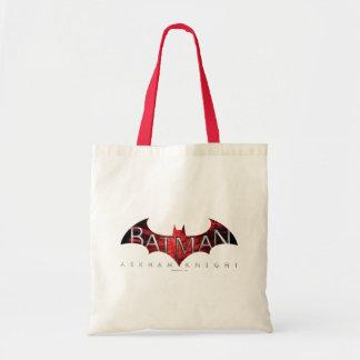 Batman Arkham Knight Red Logo Tote Bag