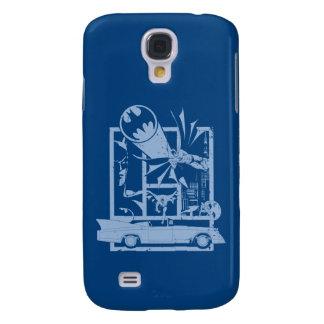 Batman - azul de Picto Funda Para Galaxy S4