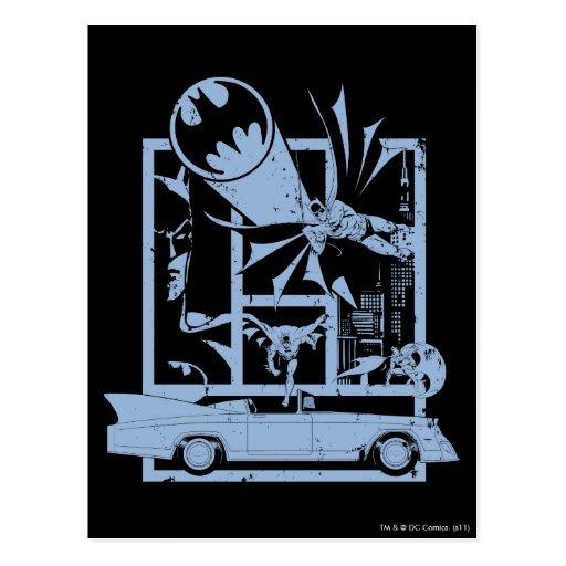Batman - azul de Picto Tarjeta Postal