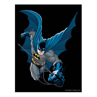 Batman balancea de cuerda postal
