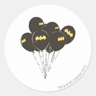 Batman Balloons Classic Round Sticker