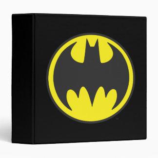 Batman Bat Logo Circle Vinyl Binder
