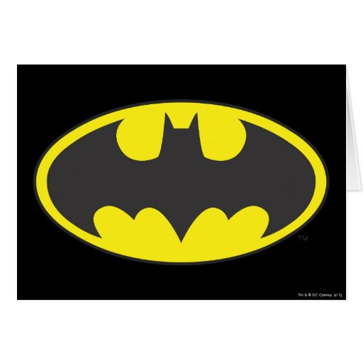 Batman Bat Logo Oval Cards