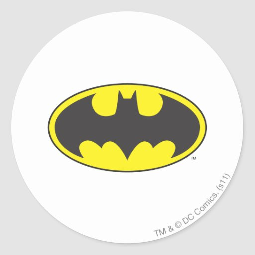 Batman Bat Logo Oval Round Stickers