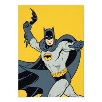 invitations, vintage, retro, batarang, batman, bat man, 1966 batman, 60's batman, batman action callout, action words, fighting sound effect words, punching sounds, adam west, burt ward, batman tv show, batman cartoon graphics, super hero, classic tv show, Invitation with custom graphic design