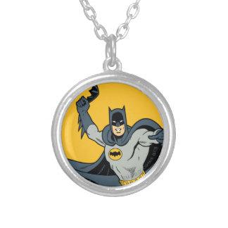 Batman Batarang Round Pendant Necklace