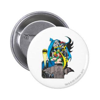 Batman Batgirl petirrojo Pins
