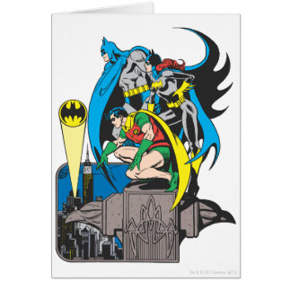 Batman/Batgirl/petirrojo Tarjeta De Felicitación