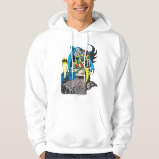 Batman/Batgirl/Robin Hooded Sweatshirt