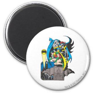 Batman/Batgirl/Robin Fridge Magnet