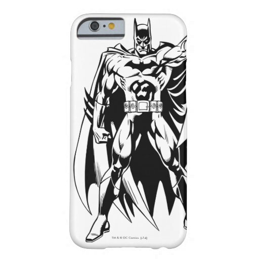 Batman Black and White Front Barely There iPhone 6 Case