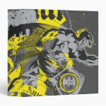 Batman Black and Yellow Collage Binders