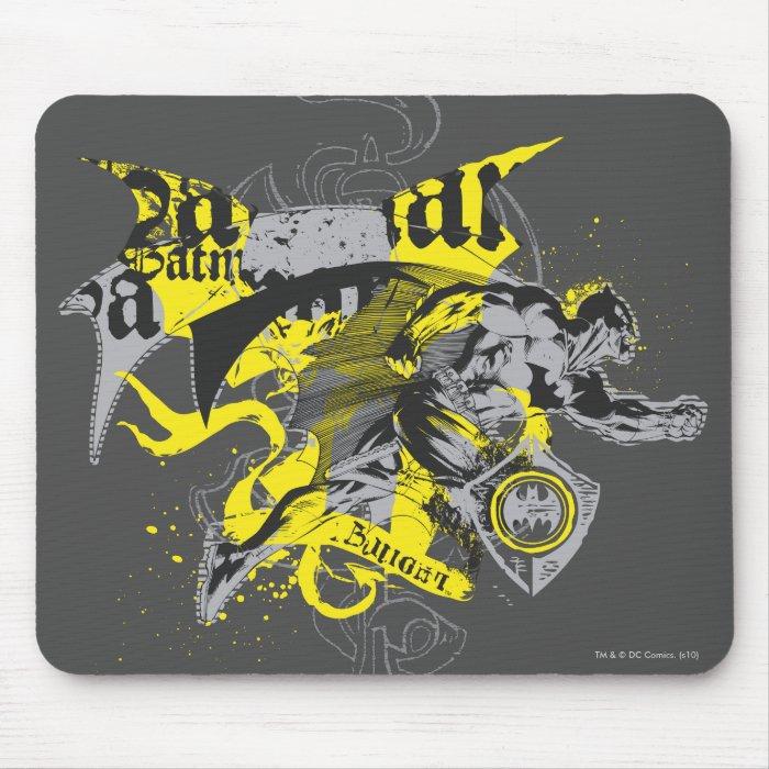 Batman Black and Yellow Collage Mouse Pad