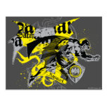 Batman Black and Yellow Collage Postcards