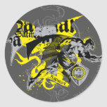 Batman Black and Yellow Collage Classic Round Sticker