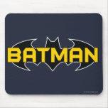 Batman Black and Yellow Logo Mouse Pads