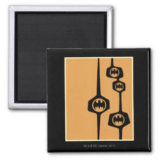 Batman Black Orange Frame 2 Inch Square Magnet