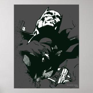 Batman Black & White Graffiti Stencil Posters