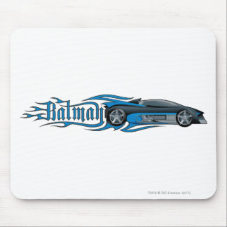 Batman | Blue Batmobile Logo Mouse Pad