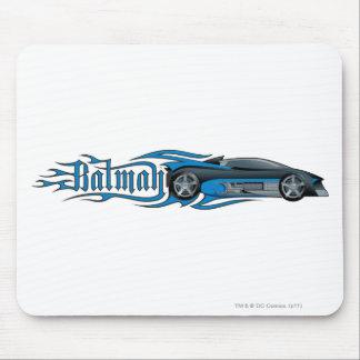 Batman Blue Batmobile Mouse Pads