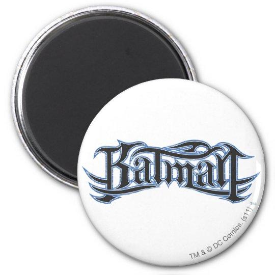 Batman | Blue Black Letters Logo Magnet