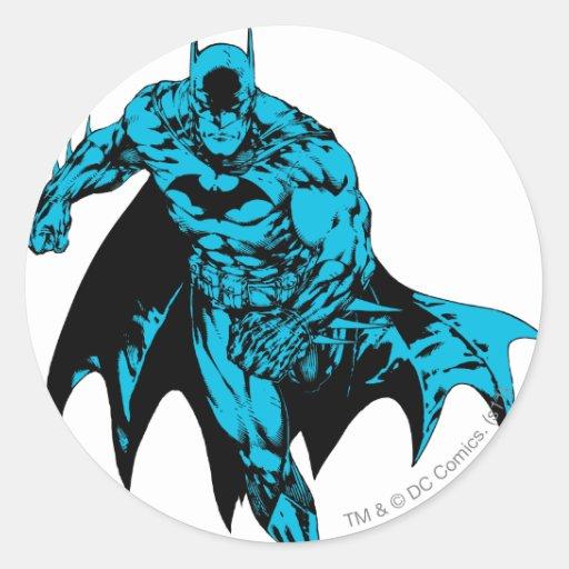 Batman Blue Classic Round Sticker