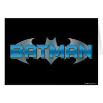Batman | Blue Name Logo Card