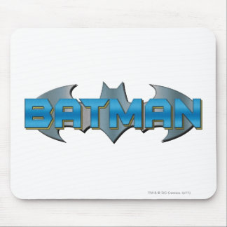 Batman | Blue Name Logo Mouse Pad