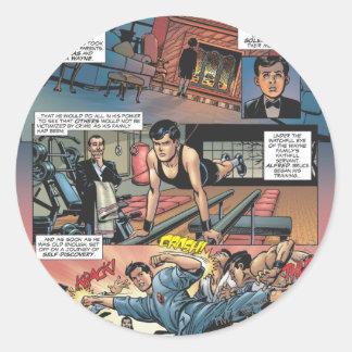 Batman - Bruce Wayne Origins 1 Classic Round Sticker