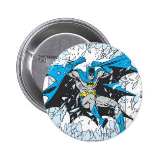 Batman Bursts Through Glass Pinback Button