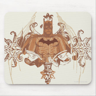 Batman Bust with Flourishes Mouse Pad